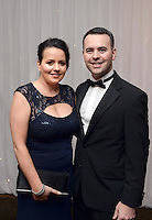 Brian and Chloe Bowler, The Brehon Hotel pictured  at the IHF Ball in the Muckross Park Hotel at the weekend.<br /> Photo: Don MacMonagle<br /> <br /> Repro free photo