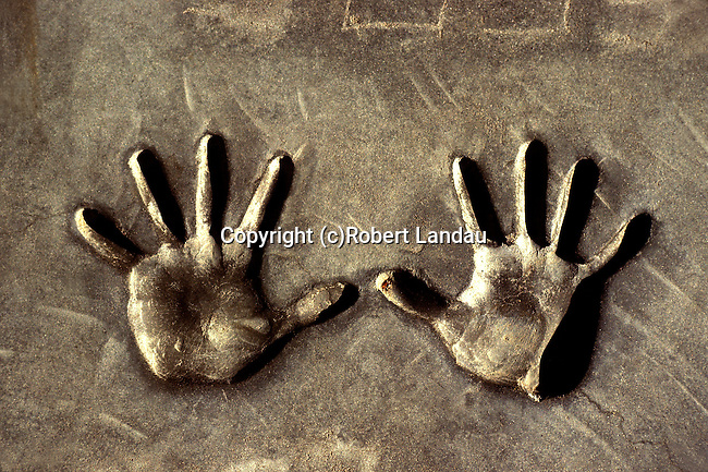 Hand Prints, Chinese Theater, Hollywood, 1980