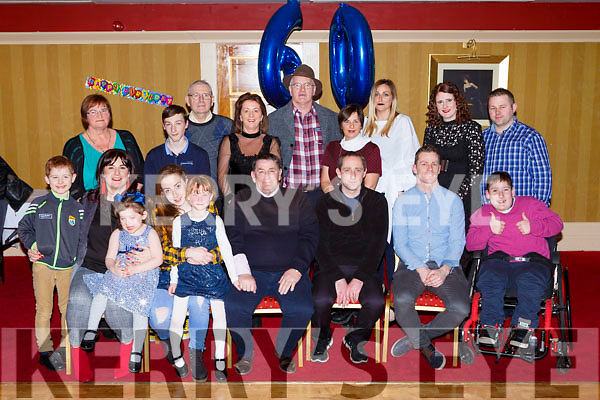 Kevin O'Sullivan, Deerpark Cresent Killarney celebrated his 60th birthday with his family and friends in the Killarney Avenue Hotel on Friday night