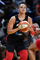 Washington, DC - July 13, 2019: Las Vegas Aces guard Kayla McBride (21) with the ball during 1st half action of game between Las Vegas Aces and Washington Mystics at the Entertainment & Sports Arena in Washington, DC. (Photo by Phil Peters/Media Images International)