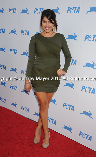 HOLLYWOOD, CA. - September 25: Daniella Monet arrives at PETA's 30th Anniversary Gala And Humanitarian Awards at The Hollywood Palladium on September 25, 2010 in Hollywood, California.
