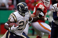 San Diego Chargers running back LaDainian Tomlinson in action at Arrowhead Stadium  in Kansas City, MO on October 22, 2006. The Chiefs won 30-27.