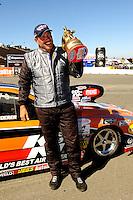 Jul. 18, 2010; Sonoma, CA, USA; NHRA top sportsman driver Mike Ferderer celebrates after winning the Fram Autolite Nationals at Infineon Raceway. Mandatory Credit: Mark J. Rebilas-