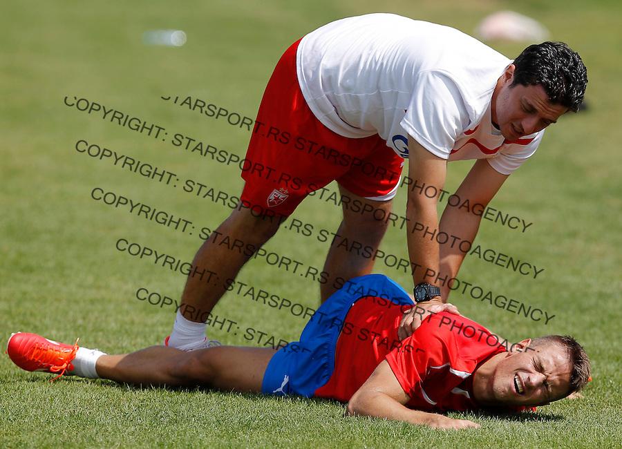 Fudbal season 2012-2013<br /> FK Crvena Zvezda <br /> Trening<br /> Vladimir Cepzanovic and Luka Milunovic<br /> Brezice, 01.07.2013.<br /> foto: Srdjan Stevanovic/Starsportphoto &copy;