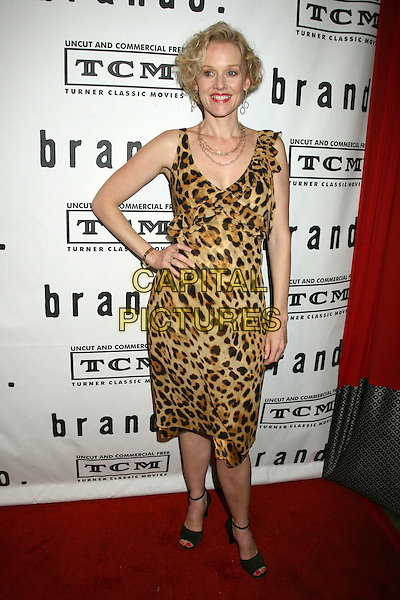 """PENELOPE ANN MILLER.""""Brando"""" Los Angeles Premiere at the Egyptian Theatre, Hollywood, California, USA.April 17th, 2007.full length leopard print dress hand on hip .CAP/ADM/BP.©Byron Purvis/AdMedia/Capital Pictures"""