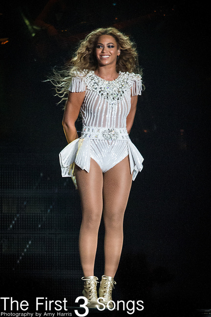 Beyoncé performs at the 2013 Essence Festival at the Mercedes-Benz Superdome in New Orleans, Louisiana on July 7, 2013.