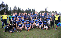 The Wanganui team. Game of Three Halves pre-season rugby match at Taihape Domain in Taihape, New Zealand on Friday, 27 July 2018. Photo: Dave Lintott / lintottphoto.co.nz