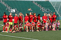 Rochester, NY - Friday May 27, 2016: Western New York Flash Starting Eleven. The Western New York Flash defeated the Boston Breakers 4-0 during a regular season National Women's Soccer League (NWSL) match at Rochester Rhinos Stadium.