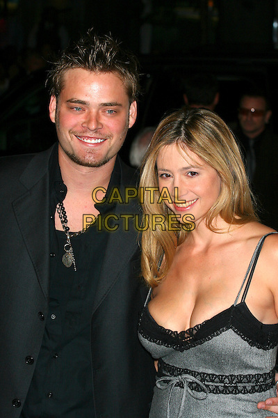 "CHRISTOPHER BACKUS & MIRA SORVINO.attends the  premiere of ""The Departed"" to Benefit the Film Foundation at the  Ziegfeld Theatre, New York, NY, USA,.26 September 2006..half length black and grey dress couple.Ref: IW.www.capitalpictures.com.sales@capitalpictures.com.©Ian Wilson/Capital Pictures"