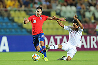 2nd November 2019; Kleber Andrade Stadium, Cariacica, Espirito Santo, Brazil; FIFA U-17 World Cup Brazil 2019, Chile versus Korea Republic; Joan Cruz of Chile and Yoon Sukju of Korea Republic