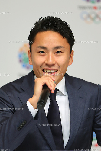 Yuki Ota, <br /> September 10, 2013  : <br /> International Olympic Committee (IOC) session return home press conference <br /> in Shinjuku, Tokyo, Japan. <br /> (Photo by Daiju Kitamura/AFLO SPORT)