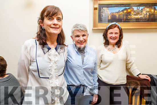 Siobhan O'Donnell, Sheila Counihan and Cathy Scannell enjoying the evening in Bella Bia on Thursday.