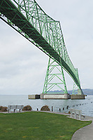 Astoria-Megler Bridge, Columbia River, a steel girder continuous truss bridge spanning the Columbia River between Astoria, Oregon and Point Ellice, Megler, Washington, United States.  Total span 14 miles.  It is the longest continuous bridge in North America.  Please contact the photographer regarding licensing this image.