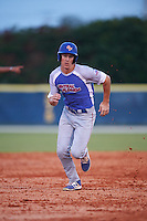 College of Central Florida Patriots Blake Marabell (11) running the bases during a game against the SCF Manatees on February 8, 2017 at Robert C. Wynn Field in Bradenton, Florida.  SCF defeated Central Florida 6-5 in eleven innings.  (Mike Janes/Four Seam Images)