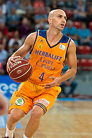 Herbalife Gran Canaria's player Albert Oliver during the match of the semifinals of Supercopa of La Liga Endesa Madrid. September 23, Spain. 2016. (ALTERPHOTOS/BorjaB.Hojas)