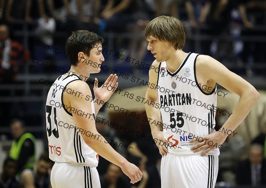 Kosarka FIBA Champions League season 2016-2017<br /> Partizan v PAOK<br /> Stefan Pot and Uros Lukovic (R)<br /> Beograd, 08.01.2016.<br /> foto: Srdjan Stevanovic/Starsportphoto &copy;