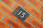 Property of the week: 15 Birdland Avenue, Bo'ness, EH51 9LW<br /> <br /> Pictured: House number detail<br /> <br /> Image by: Malcolm McCurrach
