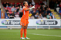 Chelsea goalkeeper, Rebecca Spencer during Chelsea Ladies vs Liverpool Ladies, FA Women's Super League FA WSL1 Football at Kingsmeadow on 7th October 2017