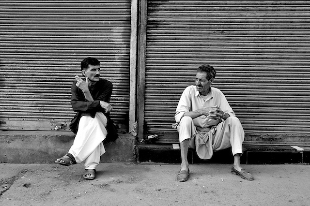 The Curfew. Indian Independence Day, Srinigar, Kashmir