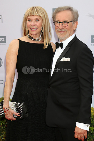 LOS ANGELES, CA - JUNE 9: Kate Capshaw, Steven Spielberg at the American Film Institute 44th Life Achievement Award Gala Tribute to John Williams at the Dolby Theater on June 9, 2016 in Los Angeles, California. Credit: David Edwards/MediaPunch