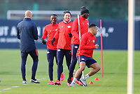 9th March 2020, Red Bull Arena, Leipzig, Germany; RB Leipzig press confefence and training ahead of their Champions League match versus Tottenham Hotspur on 10th March 2020; Ruwen Faller, Amadou Haidara, Emil Forsberg, Dayot Upamecano and Tyler Adams