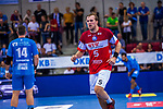 DARJ, Max (#5 Bergischer HC) \ beim Spiel in der Handball Bundesliga, TVB 1898 Stuttgart - Bergischer HC.<br /> <br /> Foto © PIX-Sportfotos *** Foto ist honorarpflichtig! *** Auf Anfrage in hoeherer Qualitaet/Aufloesung. Belegexemplar erbeten. Veroeffentlichung ausschliesslich fuer journalistisch-publizistische Zwecke. For editorial use only.