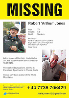 Pictured: A missing poster for 73 year old Robert Arthur Jones.<br />
