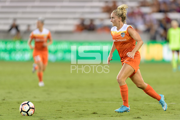 Houston, TX - Saturday July 15, 2017: Camille Levin during a regular season National Women's Soccer League (NWSL) match between the Houston Dash and the Washington Spirit at BBVA Compass Stadium.