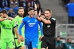 01.12.2018, wirsol Rhein-Neckar-Arena, Sinsheim, GER, 1 FBL, TSG 1899 Hoffenheim vs FC Schalke 04, <br /> <br /> DFL REGULATIONS PROHIBIT ANY USE OF PHOTOGRAPHS AS IMAGE SEQUENCES AND/OR QUASI-VIDEO.<br /> <br /> im Bild: Florian Grillitsch (TSG 1899 Hoffenheim #11) diskutiert mit Schiedsrichter Dr. Robert Kampka<br /> <br /> Foto &copy; nordphoto / Fabisch