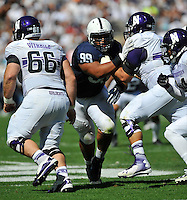27 September 2014:  Penn State DT Austin Johnson (99). The Northwestern Wildcats defeated the The Penn State Nittany Lions 29-6 at Beaver Stadium in State College, PA.