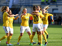 20190813 - DENDERLEEUW, BELGIUM : LSK's players pictured celebrating the goal and the 0-1 lead after Ingrid Moe Wold converted a penalty kick during the female soccer game between the Greek PAOK Thessaloniki Ladies FC and the Norwegian LSK Kvinner Fotballklubb Ladies , the third and final game for both teams in the Uefa Womens Champions League Qualifying round in group 8 , Tuesday 13 th August 2019 at the Van Roy Stadium in Denderleeuw  , Belgium  .  PHOTO SPORTPIX.BE for NTB | DAVID CATRY