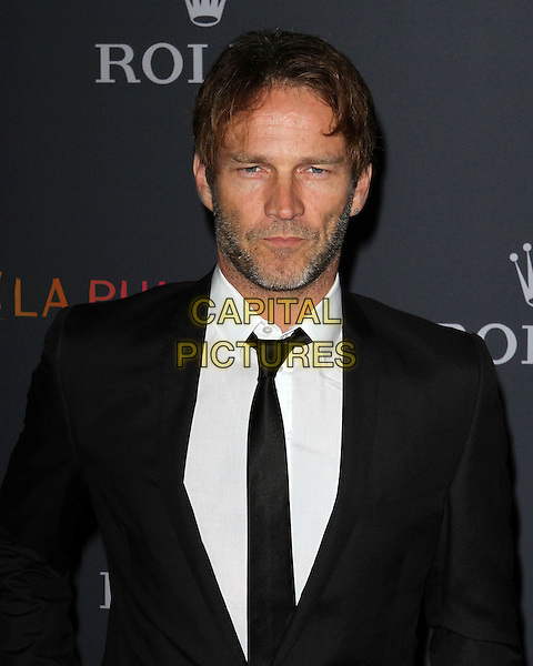 STEPHEN MOYER.Los Angeles Philharmonic 2010/2011 Season Opening Night Gala held at The Disney Concert Hall.  .October 7th, 2010.half length black white stubble beard facial hair  tie shirt suit jacket.CAP/ADM/KB.©Kevan Brooks/AdMedia/Capital Pictures.