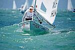 HungaryLaser RadialWomenHelmHUNME1MáriaÉrdi<br /> Day1, 2015 Youth Sailing World Championships,<br /> Langkawi, Malaysia