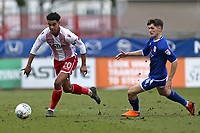 Terence Vancooten of Stevenage and Callum Ainley of Crewe Alexandra during Stevenage vs Crewe Alexandra, Sky Bet EFL League 2 Football at the Lamex Stadium on 10th March 2018