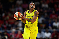 Washington, DC - June 14, 2019: Seattle Storm guard Shavonte Zellous (11) during game between Seattle Storm and Washington Mystics at the St. Elizabeths East Entertainment and Sports Arena in Washington, DC. The Storm hold on to defeat the Mystics 74-71. (Photo by Phil Peters/Media Images International)
