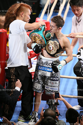 Kazuto Ioka, .JUNE 20, 2012 - Boxing : .the WBC and WBA minimum weight titles bout at.at Osaka Prefectural Gymnasium/BODYMAKER Colosseum in Osaka, Japan. .(Photo by Akihiro Sugimoto/AFLO SPORT) [1080]
