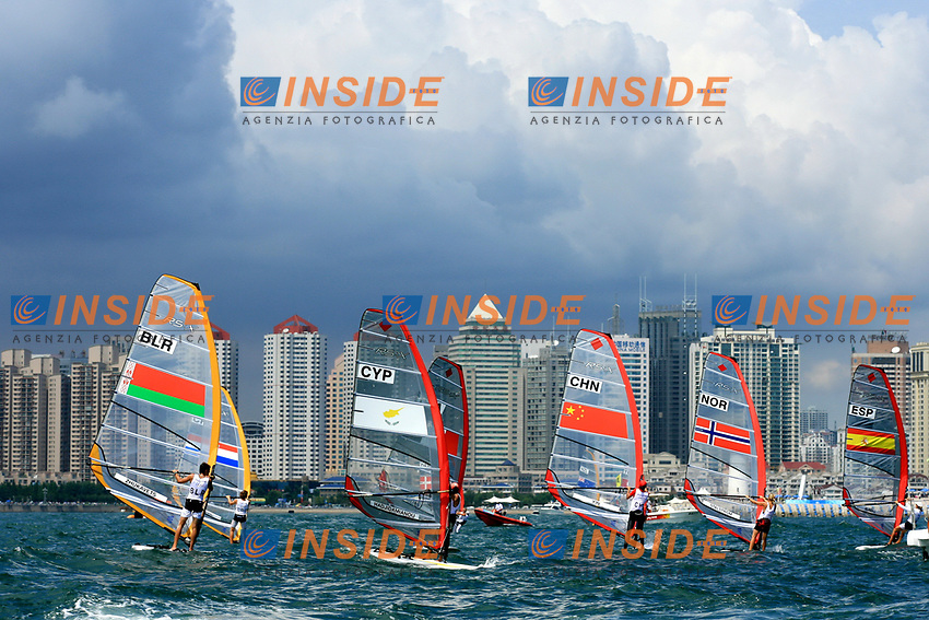 Aug 11, 2008, Qingdao, China, Competitors at Qingdao Olympic Sailing Center during the Beijing Olympic Games.<br /> Olimpiadi Pechino 2008<br /> Foto CSPA/Inside