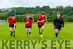 Fossa young footballers getting into shape for the resumption of football Luke McCann, Fionn Doyle, Sam Clerkin and Jamie Vousden
