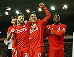 Roberto Firmino of Liverpool celebrates scoring the third goal - English Premier League - Liverpool vs Manchester City - Anfield Stadium - Liverpool - England - 3rd March 2016 - Picture Simon Bellis/Sportimage