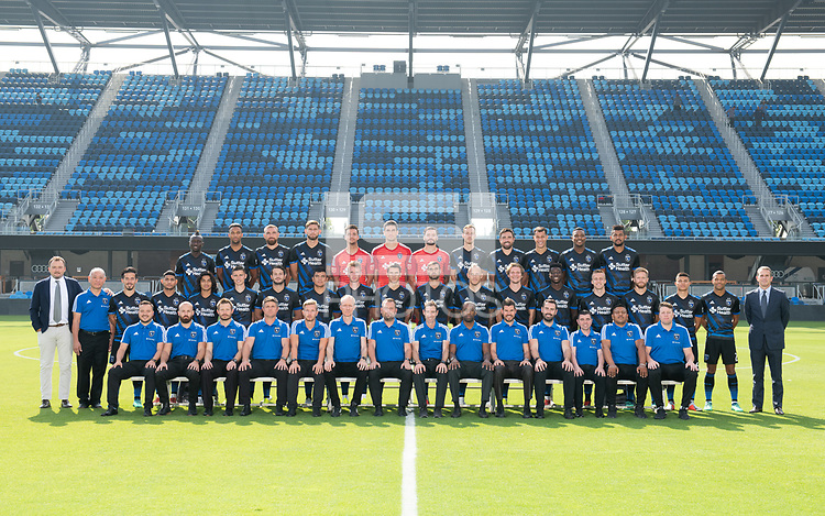 San Jose, Ca - Thursday, August 16, 2018: San Jose Earthquakes 2018 Team Photo.