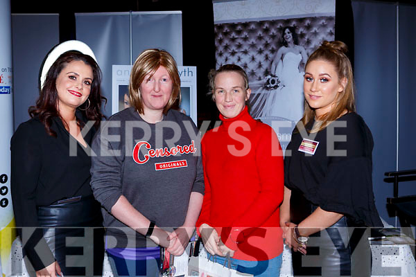 Annette Smyth Killarney, Catriona Kendrick and Stacey Galvin Athea and Adele Keane Killarney at the Kerry wedding Fair in the INEC on Sunda
