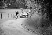 a Giant-Alpecin rider that got behind on the climb speeding down the backside of La Redoute<br /> <br /> stage 4: Hotel Verviers - La Gileppe (Jalhay/BEL) 186km <br /> 30th Ster ZLM Toer 2016
