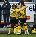 CELTIC'S ANTHONY STOKES CELEBRATES AFTER HE SCORES THE FIRST