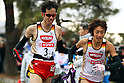 (L to R) Yuki Sato (Nissin Foods), Muryo Takase (Nissin Foods), .January 1, 2012 - Athletics : .New Year Ekiden 2012, 56th All Japan Industrial Ekiden Race .Start & Goal at Gunma Prefecture Goverment, Gunma, Japan. .(Photo by Daiju Kitamura/AFLO SPORT) [1045]