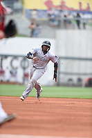 ***Temporary Unedited Reference File***Pensacola Blue Wahoos right fielder Phillip Ervin (6) during a game against the Birmingham Barons on May 2, 2016 at Regions Field in Birmingham, Alabama.  Pensacola defeated Birmingham 6-3.  (Mike Janes/Four Seam Images)
