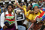 DURBAN - 13 December 2013 - Durban's Moses Mabhida stadium was filled with people to celebrate the life of Nelson Mandela in a memorial to the icon who passed away on December 5 at the age of 95. Picture: Allied Picture Press/APP