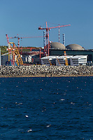 France, Manche (50), Cotentin, La Hague, Flamanville: Centrale nucléaire de Flamanville // France, Manche, Cotentin, La Hague, Flamanville: Flamanville Nuclear Power Plant