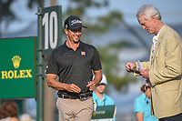 Adam Scott (AUS) is all smiles on the 10th tee during round 1 of The Players Championship, TPC Sawgrass, at Ponte Vedra, Florida, USA. 5/10/2018.<br /> Picture: Golffile | Ken Murray<br /> <br /> <br /> All photo usage must carry mandatory copyright credit (&copy; Golffile | Ken Murray)