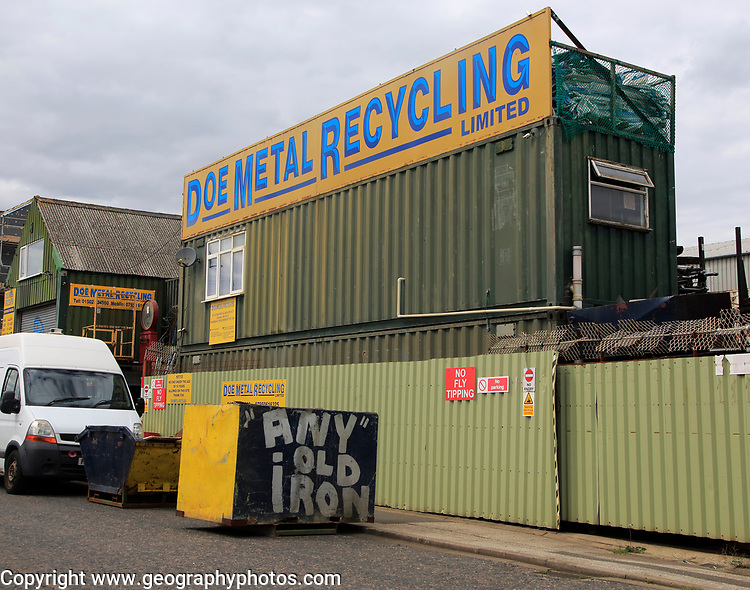 Doe Metal Recycling business, Lowestoft, Suffolk, England, UK