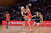 England's Sara Bayman in action during the International Netball - NZ Silver Ferns v England Roses at Te Rauparaha Arena, Porirua, New Zealand on Thursday 7 September 2017.<br /> Photo by Masanori Udagawa. <br /> www.photowellington.photoshelter.com